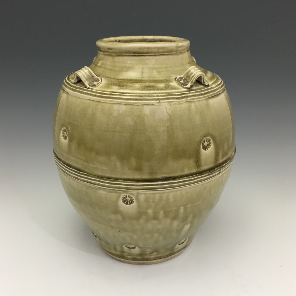 """Early Dynasty"" Green Crackle Vase - VS32"