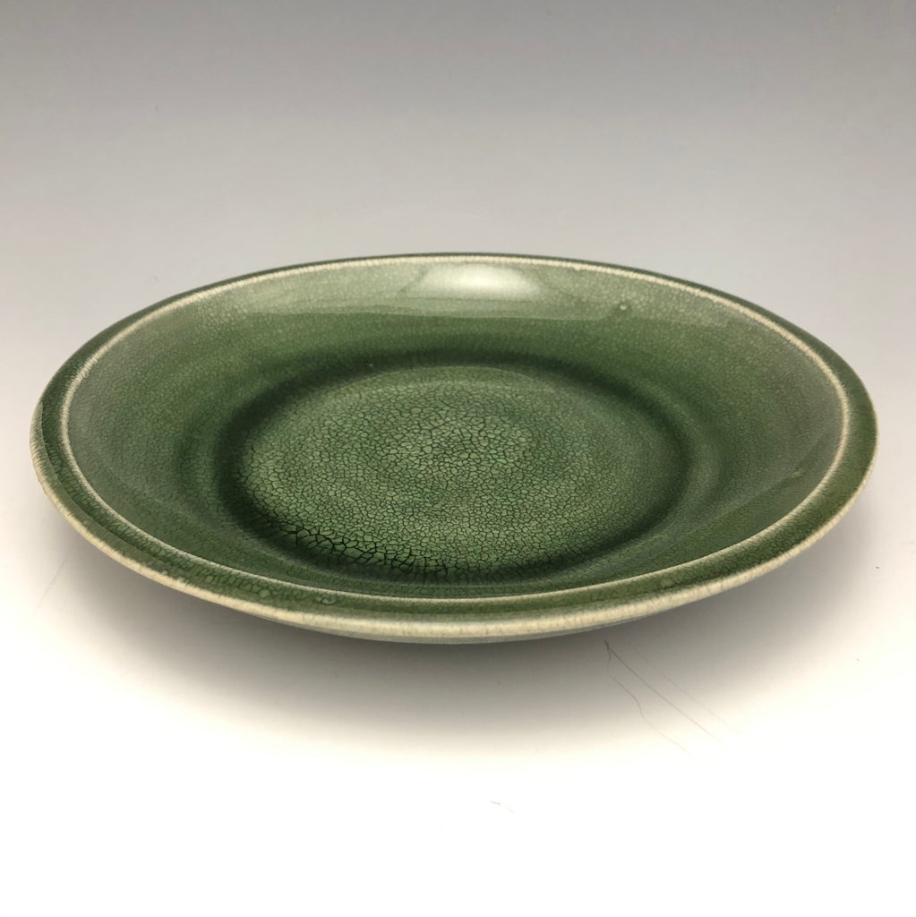 Green Crackle Glaze Dish - DS6