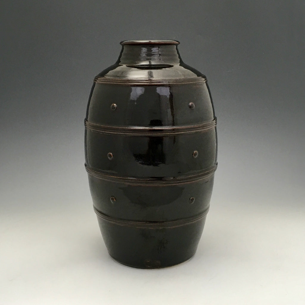 Black Granite Glaze Vase - VS16