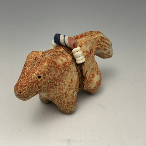 "Pottery Animal Fetish ""Critter"" with Beads BD32"