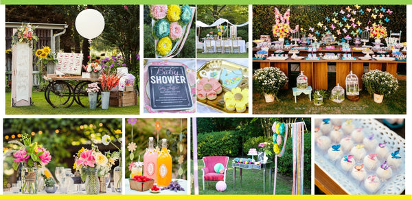 Butterfly shower party_outdoor set up and decor
