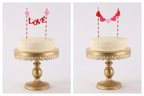 Hearts & Love Cake Toppers