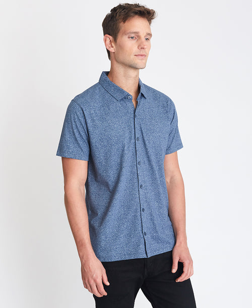 The Marled Full-Placket Polo