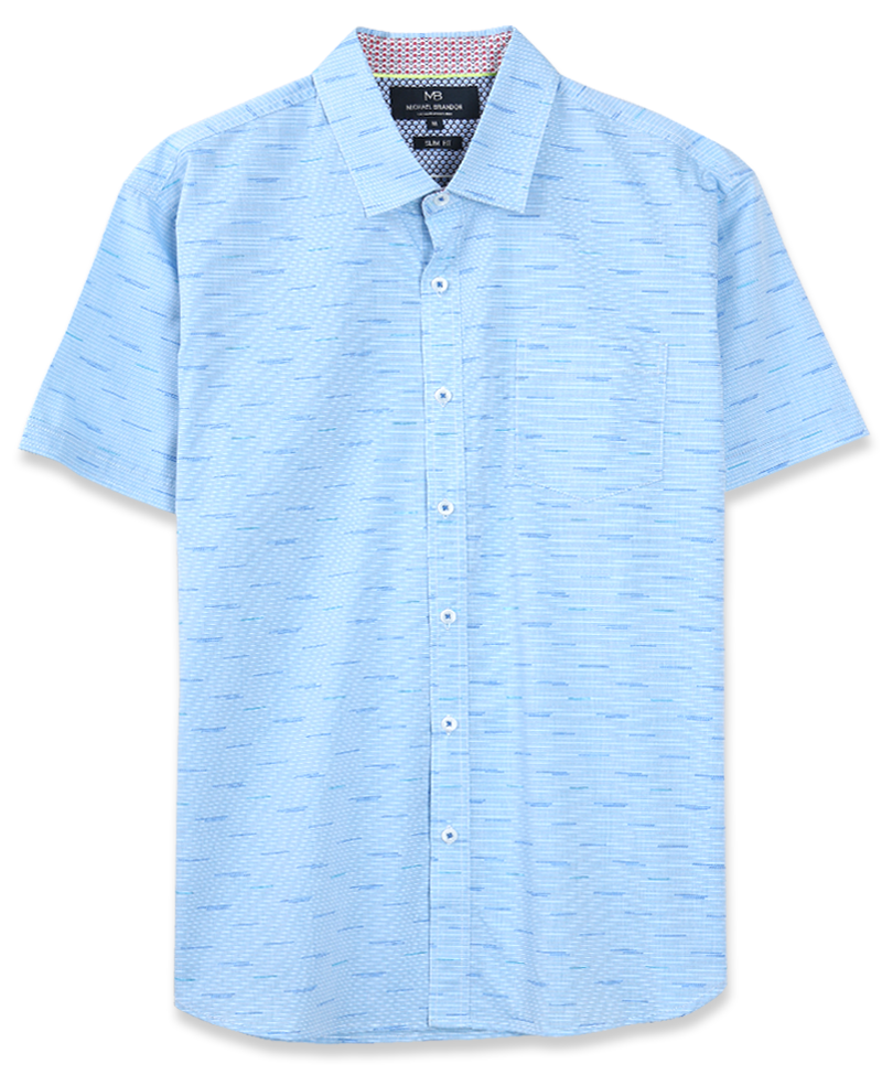 Line Pattern Short Sleeve Shirt