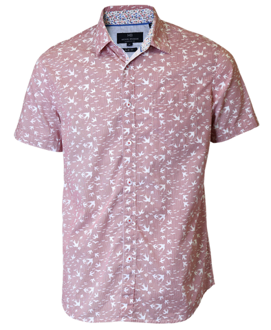 Swallow Print Short Sleeve Shirt