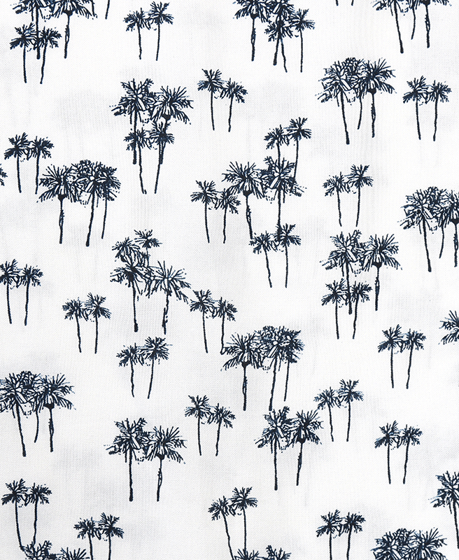 Sketched Palms Rayon