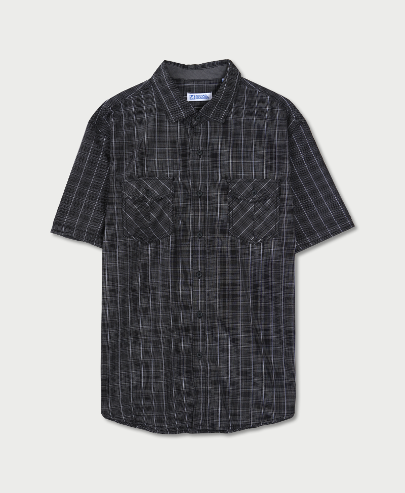 Michael Brandon Grid Plaid Shirt