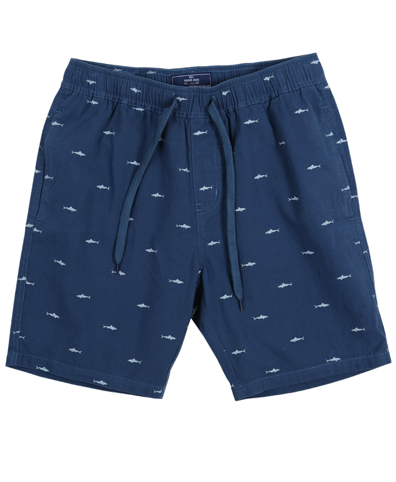 Shark in the Water Drawstring Shorts