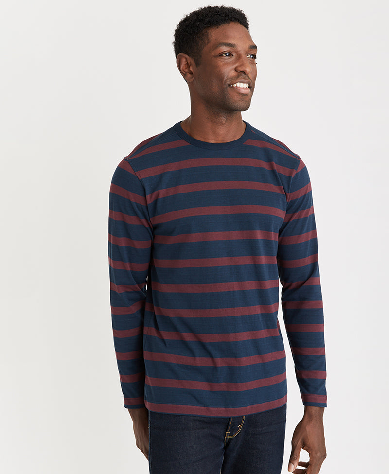 MBX Striped Long Sleeve Crew