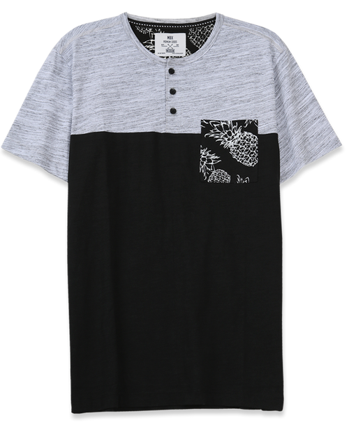 The Print Pocket Henley