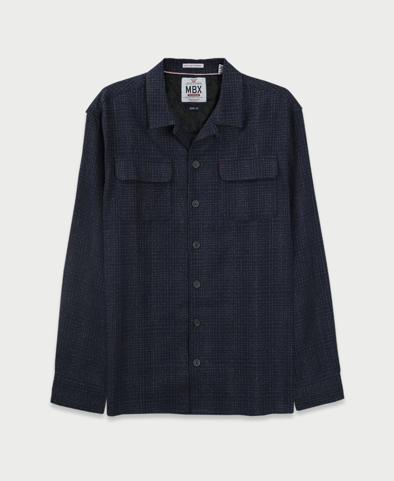 MBX The Crosshatch Flannel Jacket