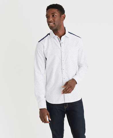 MBX Mini Print Oxford Shirt