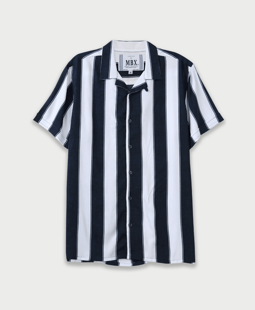 Wide Stripe Camp Shirt