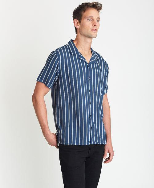 Pinstripe Camp Shirt