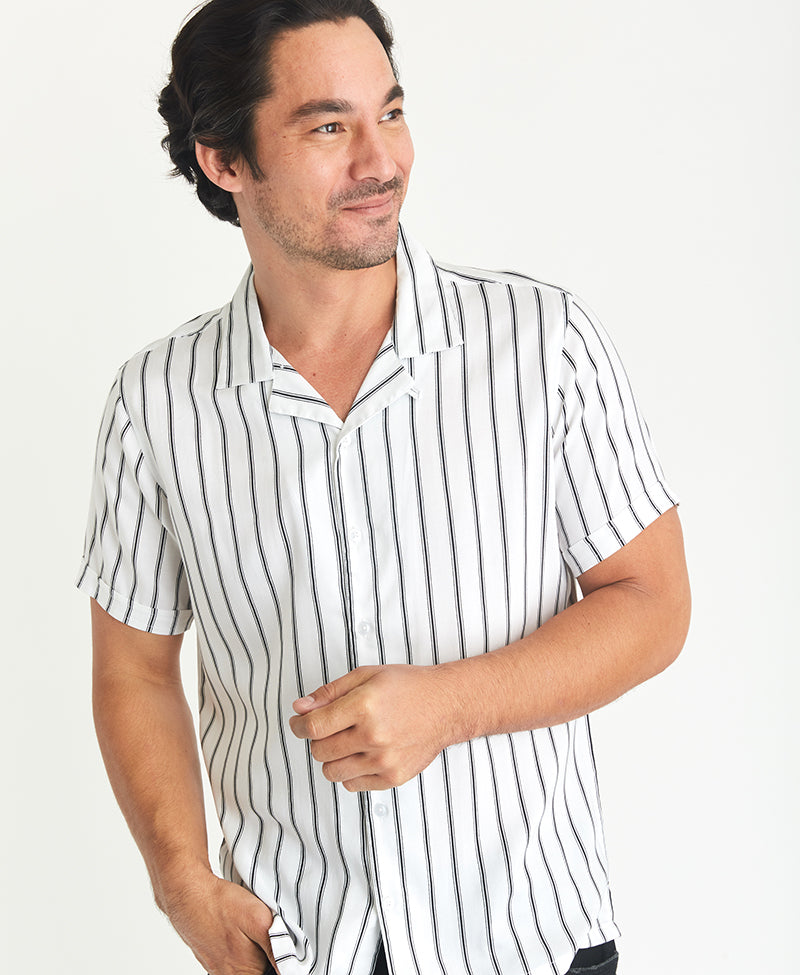MBX Pinstripe Camp Shirt