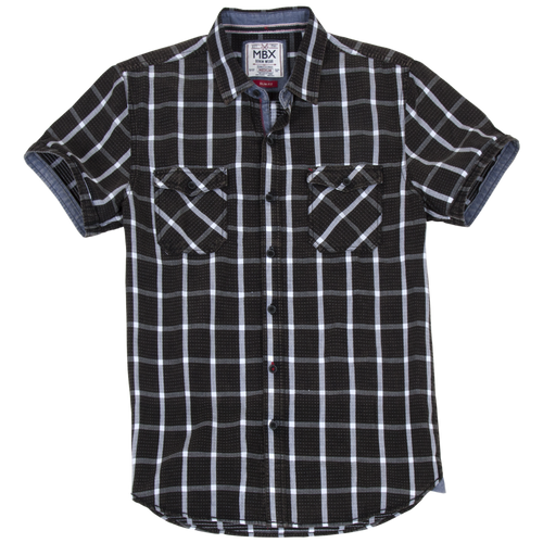 Dotted Grid Check Shirt