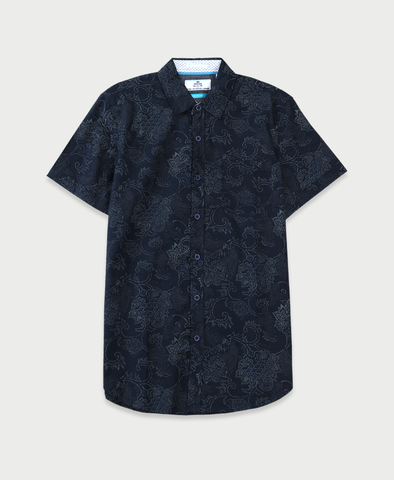 Chalk Brocade Shirt