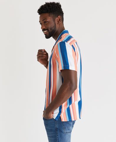 Bold Stripe Camp Shirt