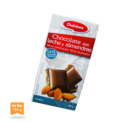 Milk Chocolate with Almonds|Chocolate con Leche y Alamendras