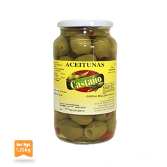 Gordal Olives Stuffed With Pepper|Aceituna Gordal Rellena de Pimiento