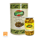55#0006 La despensa Olives Manzanilla Anchovy Flavour Glass 910g - -Castaño