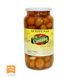 55#0011 La despensa Green Olives Verato Flavour Glass 1.35Kg - -Castaño