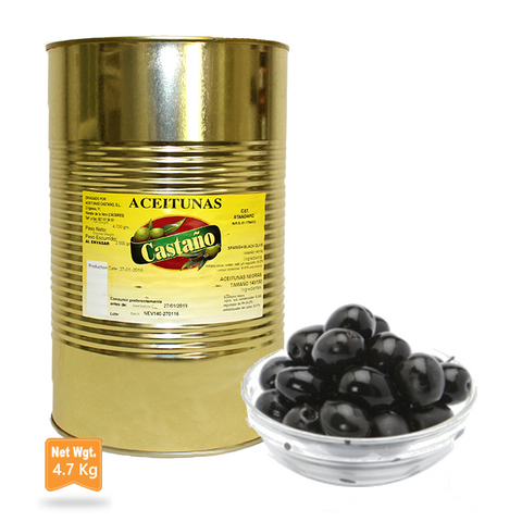Black Olives Whole  200/220|Aceitunas Negras con Hueso 200/220