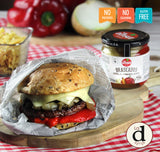 Hambuerger with ibsa grilled vegetables mix