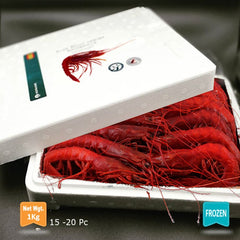 Wild Carabinero  15-20 Pc/kg (Red Shrimp-Spain)|Carabinero Salvaje 15-20 Uds/kg (España)