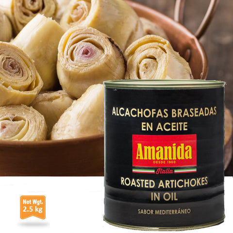 Roasted Artichokes in Sunflower Oil|Alcachofas Braseadas en Aceite de Girasol