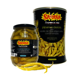 Sweet Piparra Peppers With Spiced Extra Virgin Olive Oil|Piparras Dulces con Aceite de Oliva Virgen Extra Condimentado