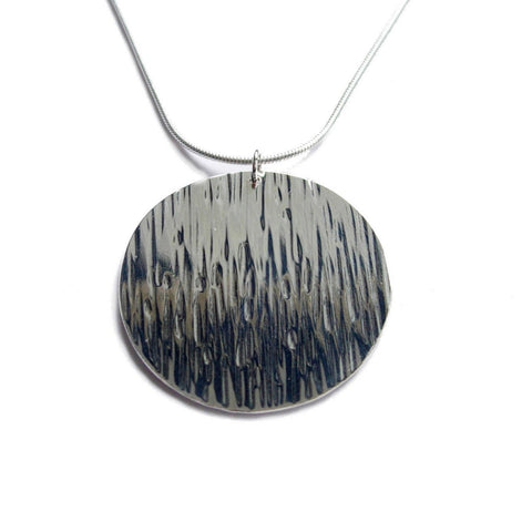 big moon rain disc necklace