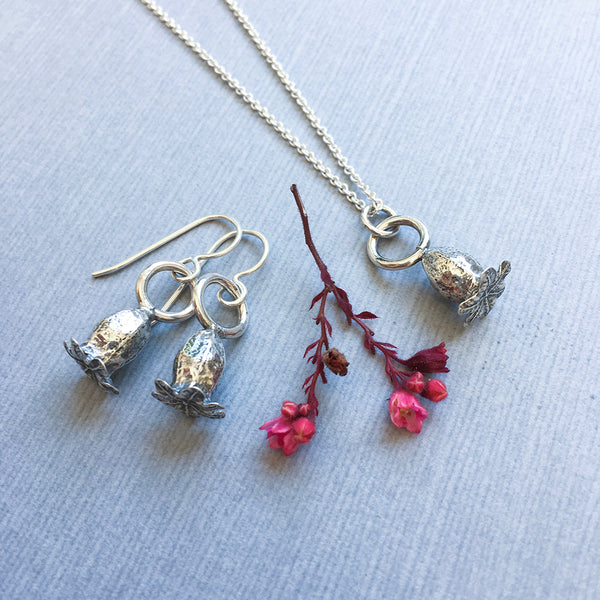petite poppy earrings