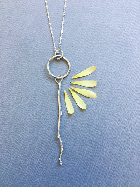 salmonberry branch necklace