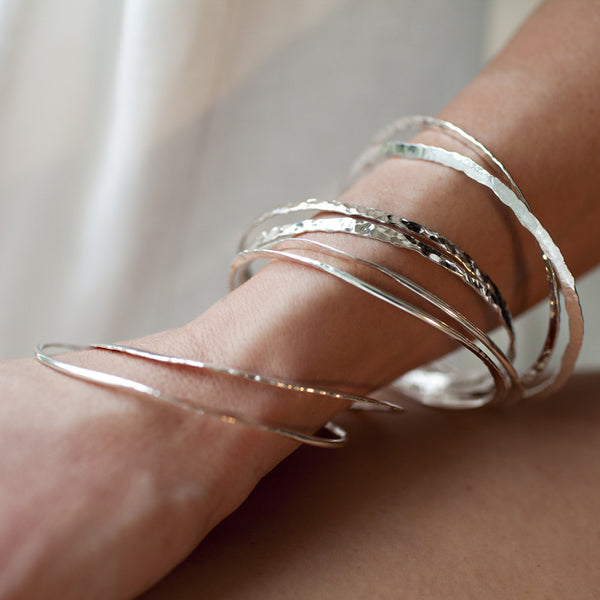 Triptych Bangle Bracelet