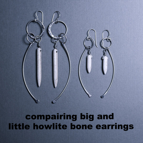 Howlite & Bone Earrings (small)