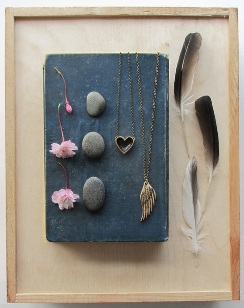 Bronze Open Heart Necklace