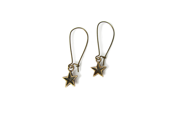 Mini Bronze Star Earrings