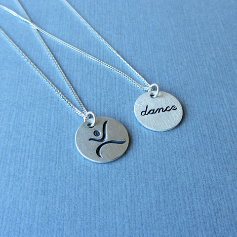 darkened silver star necklace