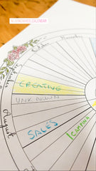 Living Wheel Calendar - downloadable pdf - letter size