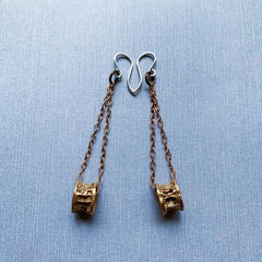 Underworld earrings in bronze