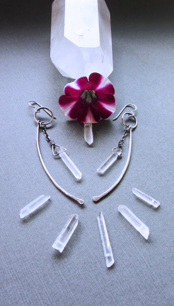 Crystal & Bone Earrings (Small)
