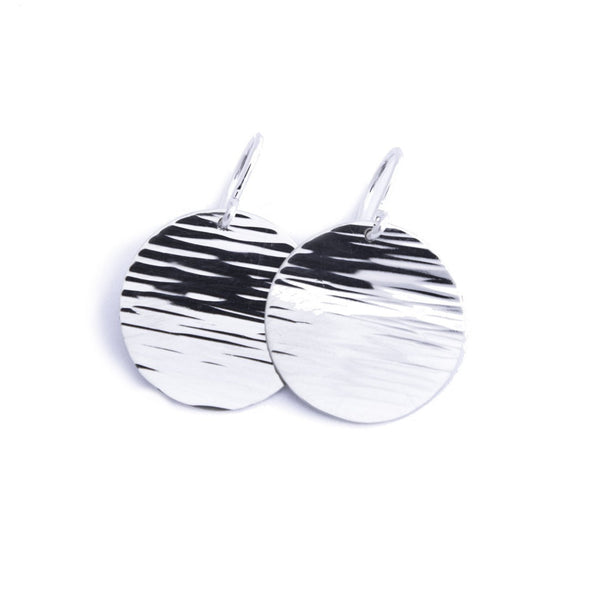 little moon disc line earrings