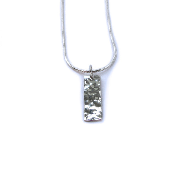 little rectangle necklace (round texture)