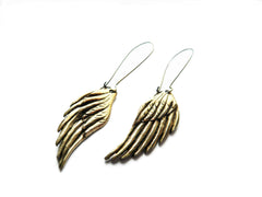bronze wing earrings