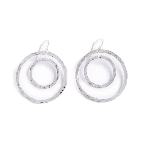 big crescent hoop earrings