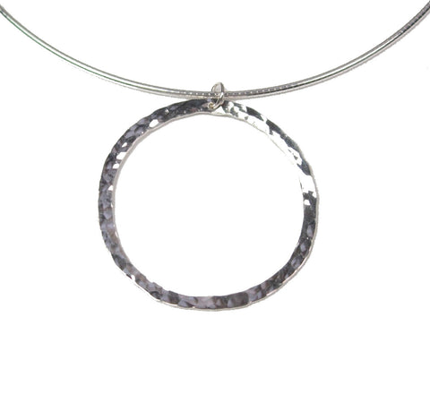 Crater Moon Necklace (partial round texture)