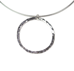 small hoop full circle necklace