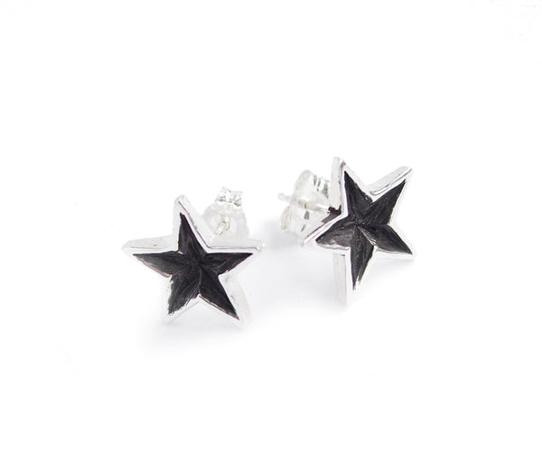 products small star hsn stud earrings d sevilla silver
