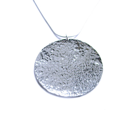 sun round disc necklace
